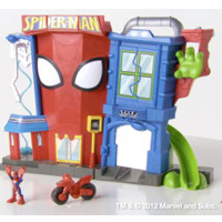 PLAYSKOOL HEROES ELECTRONIC SPIDER-MAN STUNT CITY Product Demo