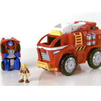 TRANSFORMERS RESCUE BOTS PLAYSKOOL HEROES RESCUE BOTS Mobile Headquarters Playset Product Demo