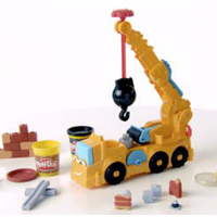PLAY-DOH DIGGIN' RIGS BUSTER THE POWER CRANE Product Demo