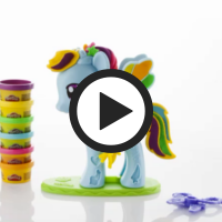 PLAYDOH MY LITTLE PONY RAINBOWDASH 360