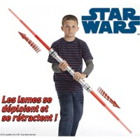 STAR WARS - Démo Produit - Double Sabre Laser Darth Maul