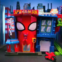 PLAYSKOOL Heroes Marvel Spider-Man Adventures Stunt City Playset Commmercial