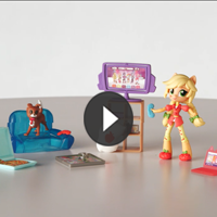 Equestria Girls Minis Escenarios Applejack - 3D video
