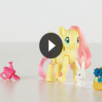 PONIES CON MOVIMIENTO Fluttershy - 3D video
