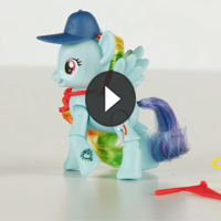 PONIES CON MOVIMIENTO Rainbow Dash - 3D video