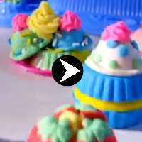 Playdoh Cupcake tower
