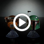 Star Wars Black Series Titanium Series Boba Fett & Princess Leia Organa (Boushh) Helmets - 360 video