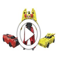 Transformers Robots in Disguise Crash Combiner Bumblebee & Sideswipe - 360 Grad-Video