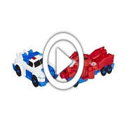 Transformers Robots in Disguise Crash Combiner Optimus & Strongarm - 360 Grad-Video