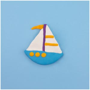 playdoh sailboat