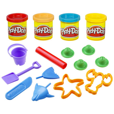 PLAY-DOH Beach Creations Mini Bucket | Tools & Accessories for ages 3 ...
