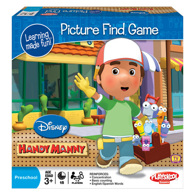 LEARNING MADE FUN! Handy Manny Picture Find Game