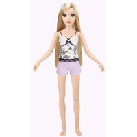 Lorifina doll -- Ivory skin, Brown eyes, Blonde straight