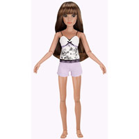 Lorifina doll -- Bronze skin, Brown eyes, Brunette flip