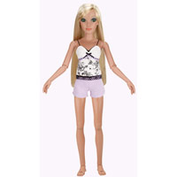 Lorifina doll -- Bronze skin, Green eyes, Blonde straight