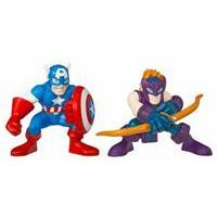 Marvel Super Hero Squad - Hawkeye & Captain America Figures