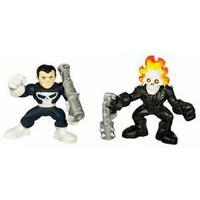 Marvel Super Hero Squad - Punisher and Ghost Rider Figures