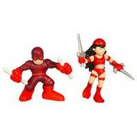 Marvel Super Hero Squad - Daredevil and Elektra Figures