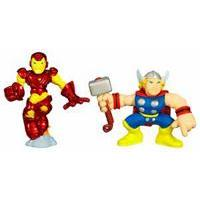 Marvel Super Hero Squad -- Iron Man and Thor Figures