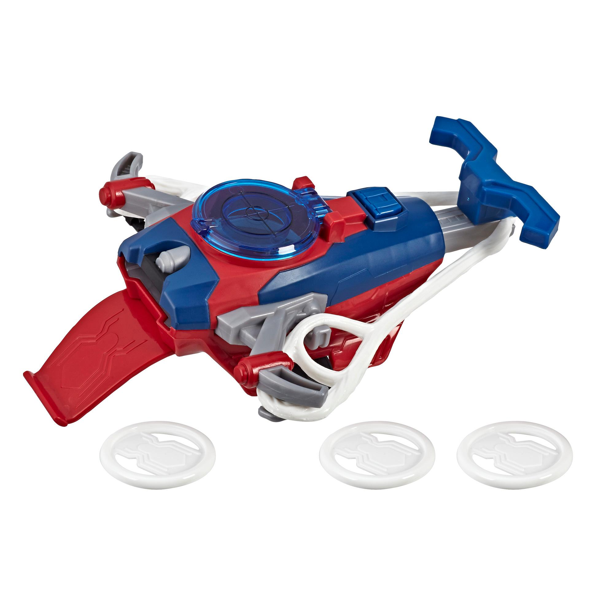Spider-Man Web Shots Disc Slinger Blaster Toy for Kids Ages 5 and Up