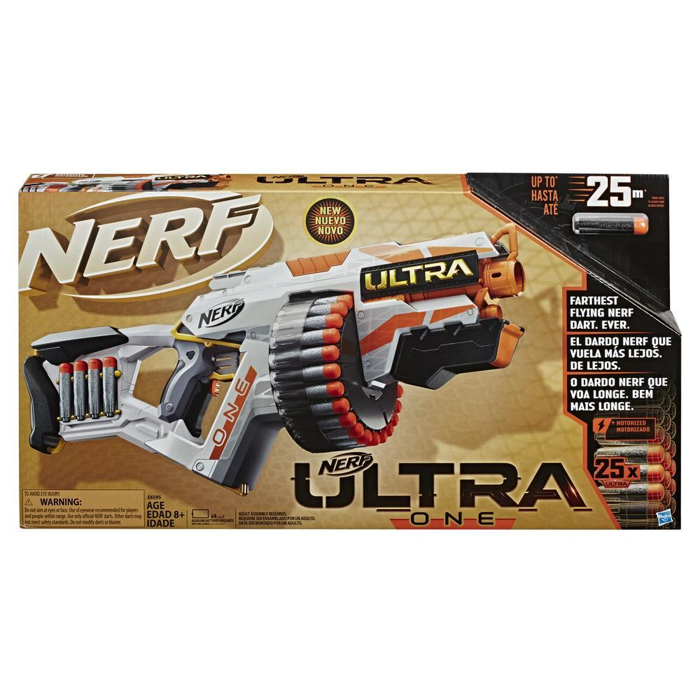 Motorizovaný blaster Nerf Ultra One, 25 šipek Nerf Ultra – kompatibilní pouze se šipkami Nerf Ultra