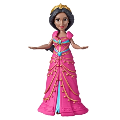 Disney Collectible Princess Jasmine Small Doll in Pink Dress Inspired by Disney's Aladdin Live-Action Movie, Toy for Kids Ages 3 and Up, 3.5 Inches