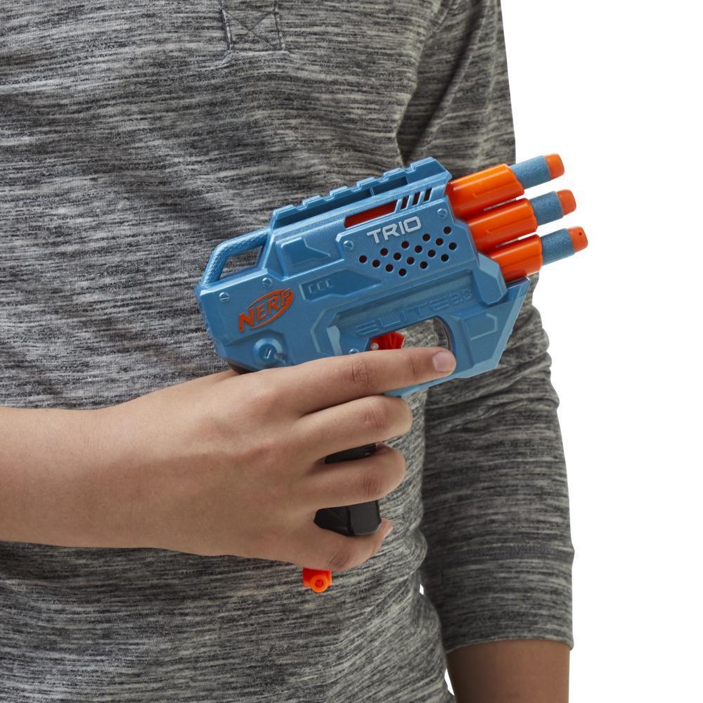 Nerf Elite2.0 Trio SD-3 Blaster, 6oficiálních šipek Nerf, palba ze tří hlavní, taktická kolejnice pro vlastní přizpůsobení