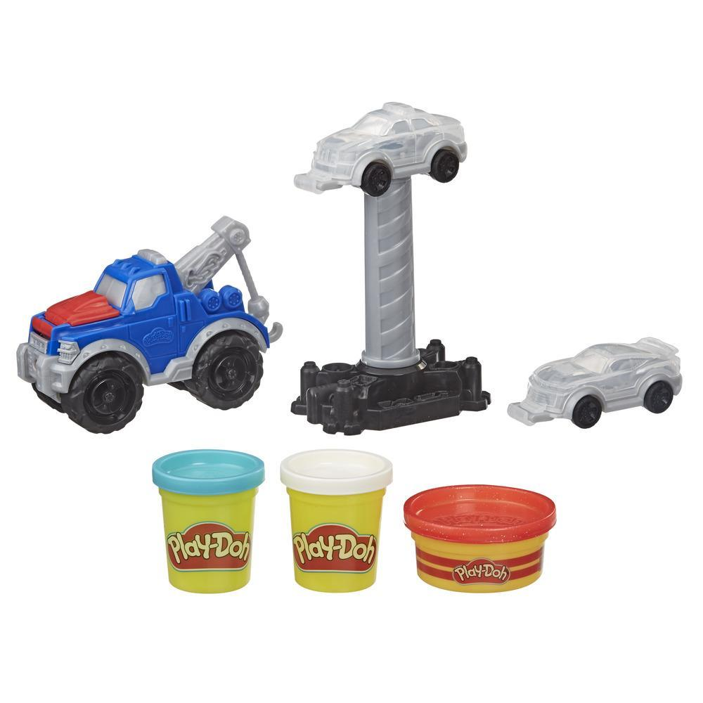 Play-Doh Wheels Tow Truck-legetøj med 3 giftfri Play-Doh-farver