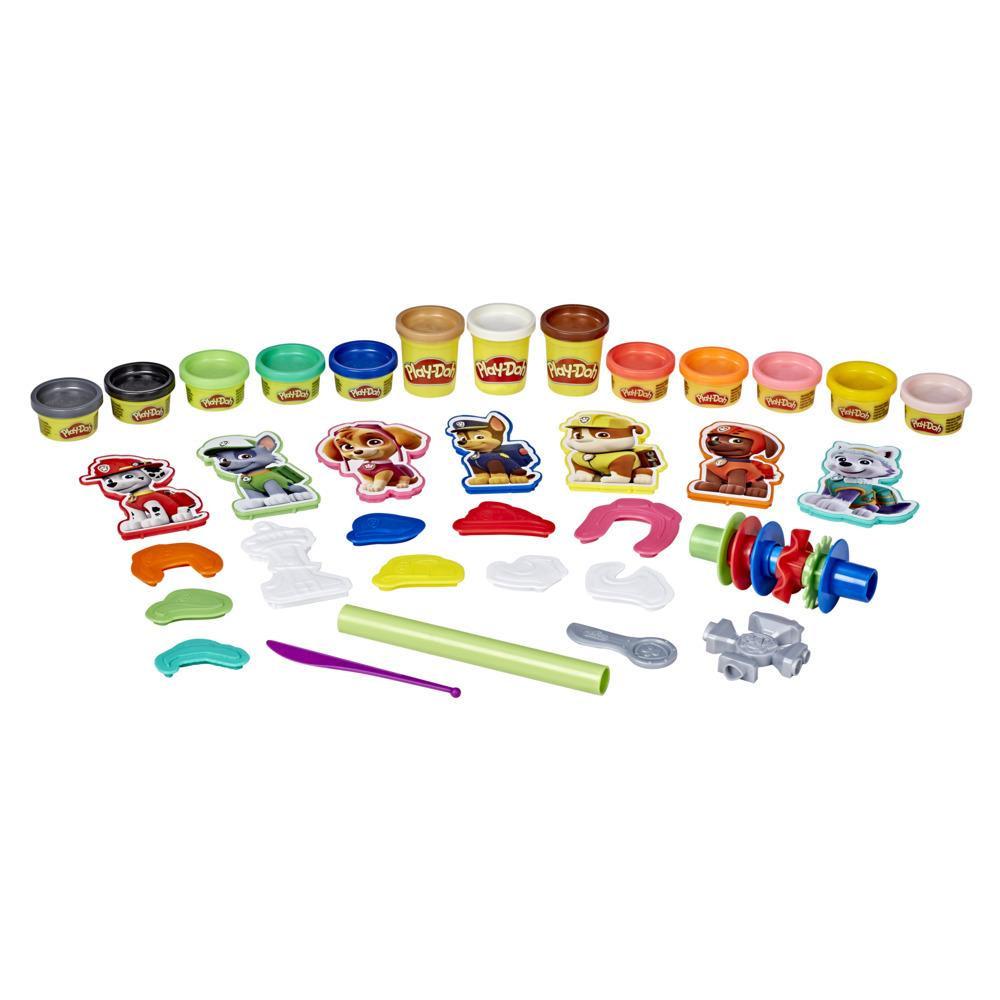 Play-Doh PAW Patrol Hero-pakke med kreativt legetøj med 13 giftfri Play-Doh-farver