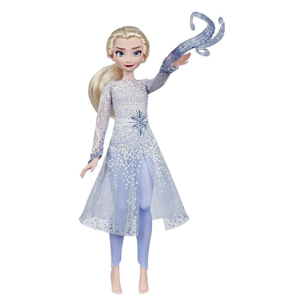 Disney Frozen Magical Discovery Elsa-dukke med lys- og lydeffekter, legetøj inspireret af Disney-filmen Frost 2