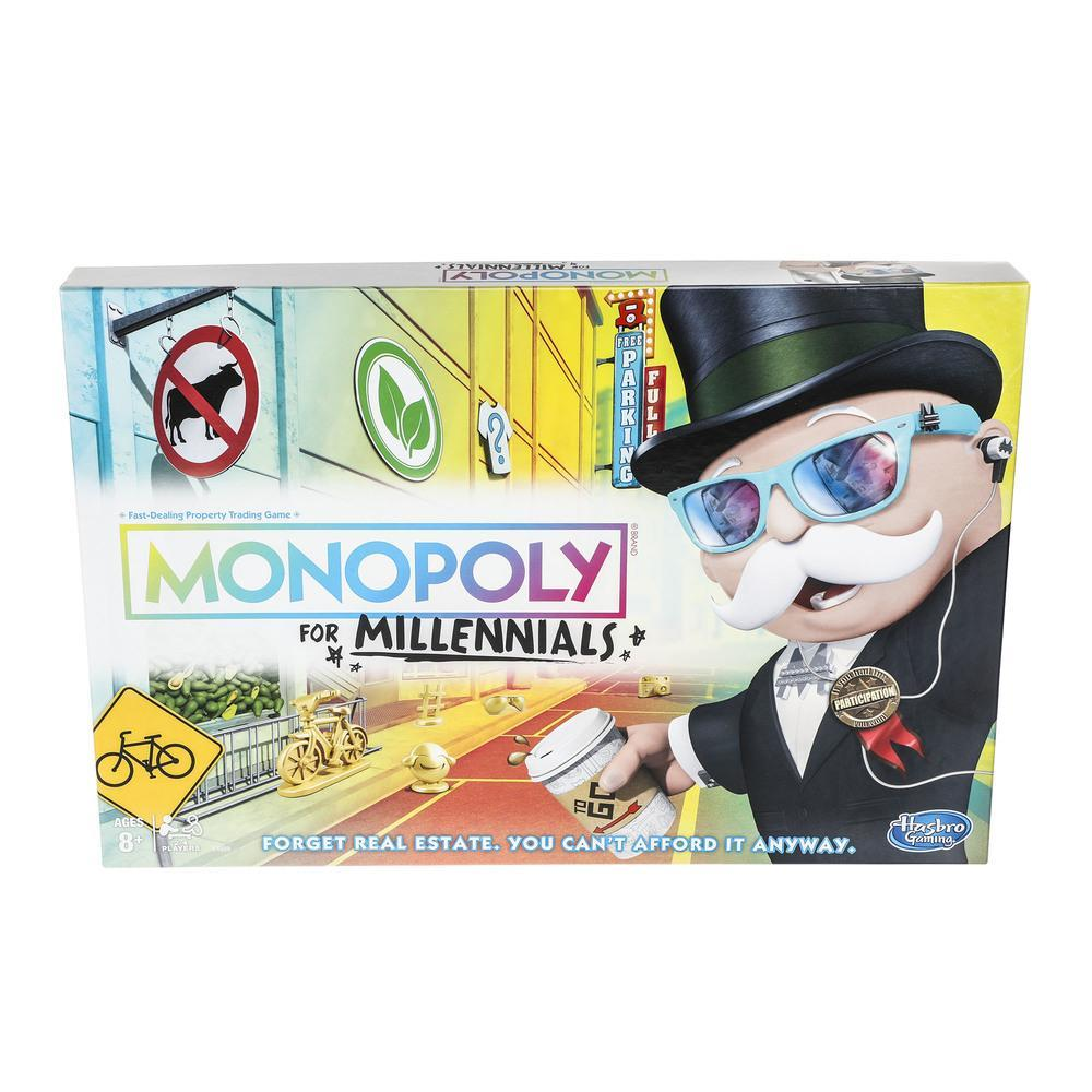 Monopoly for Millennials Board Game