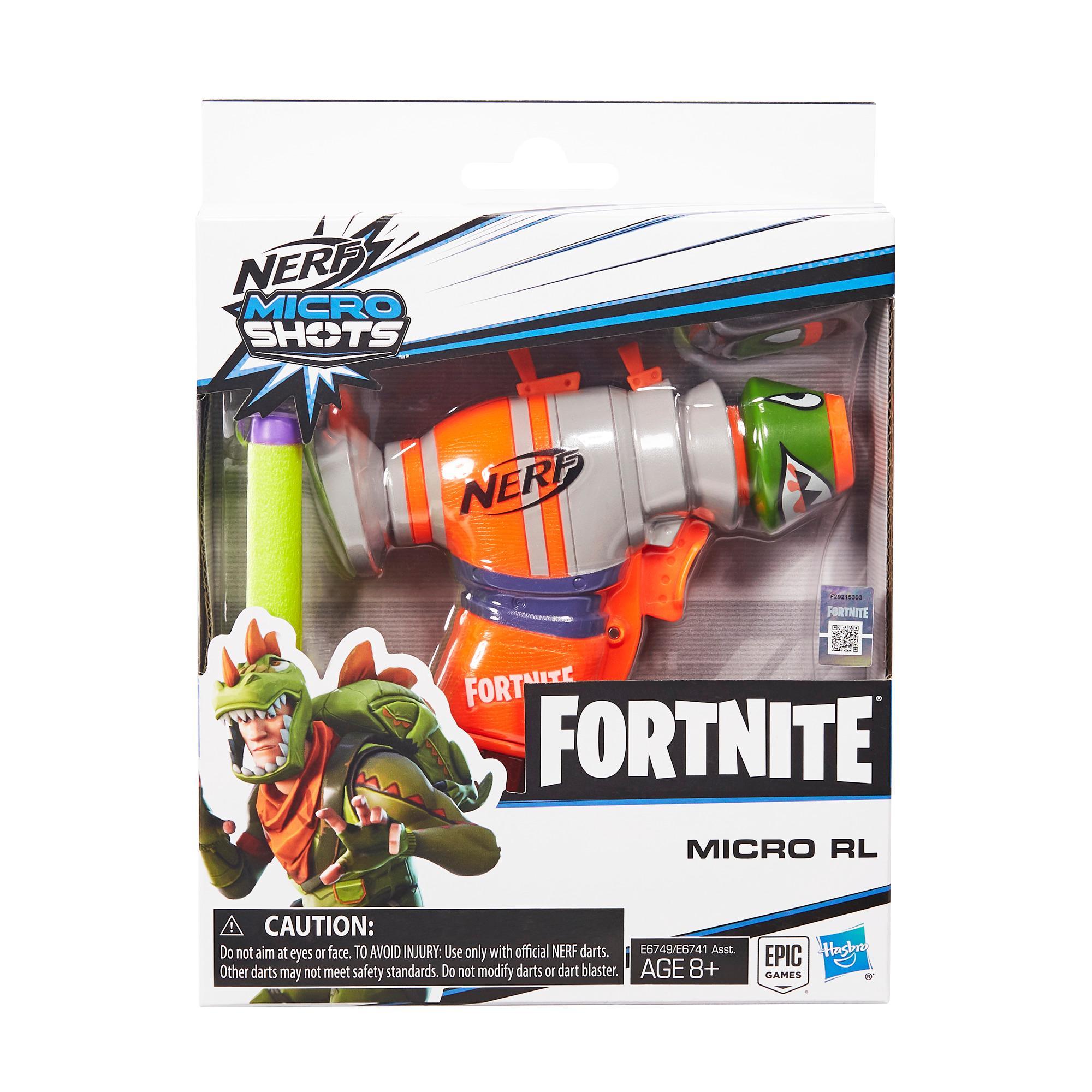 Fortnite RL Nerf MicroShots Dart-Firing Toy Blaster
