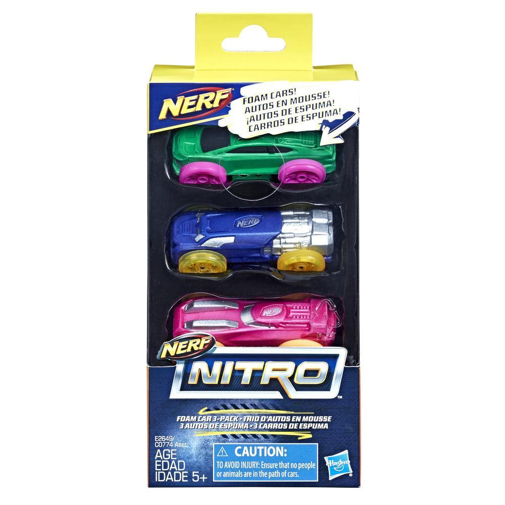 Nerf Nitro Foam Car 3-Pack (Version 10)