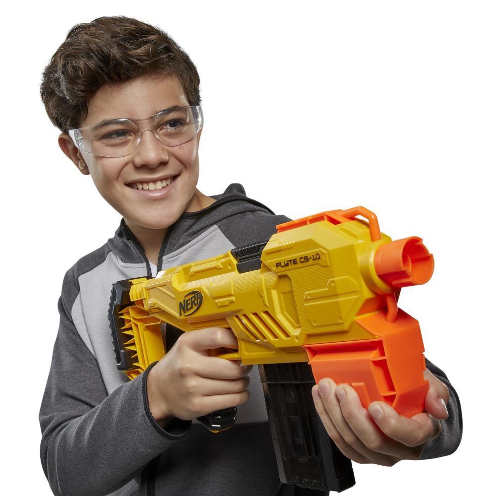 Nerf Alpha Strike Flyte CS-10-blaster med motor og 10 pile – 20 originale Nerf Elite-pile – til børn, teenagere, voksne
