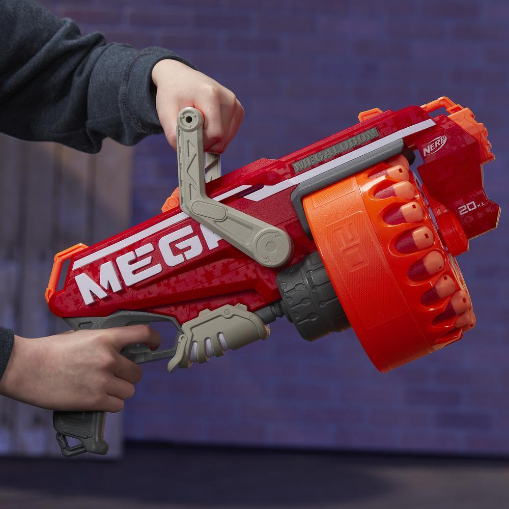 Megalodon Nerf N-Strike Mega Toy Blaster with 20 Official Nerf Mega Whistler Darts
