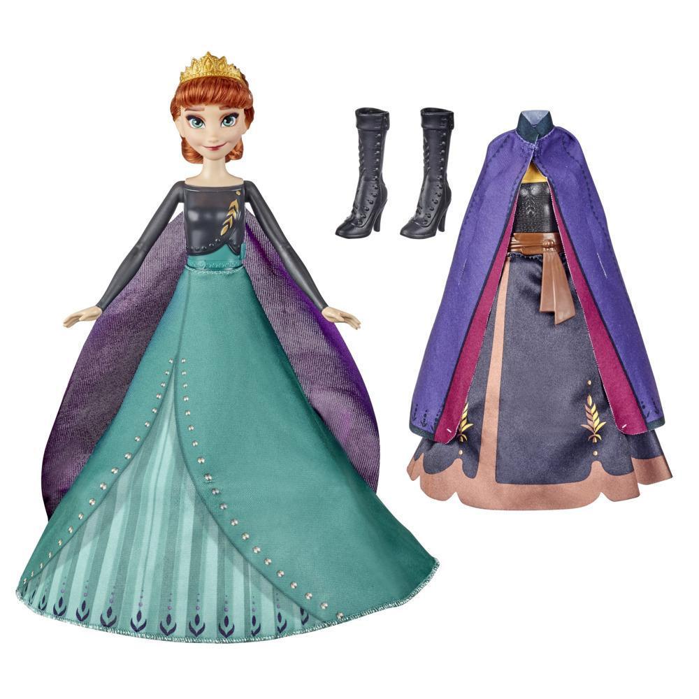 Disney's Frozen 2 Anna's Queen Transformation-modedukke med 2 sæt tøj. Legetøj inspireret af Disneys Frost 2