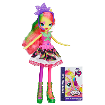 My Little Pony Equestria Girls Neon Rainbow Rocks Fluttershy-dukke