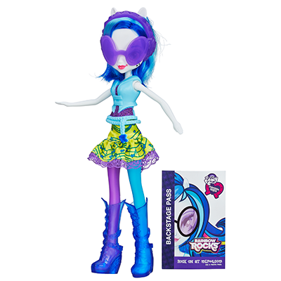 My Little Pony Equestria Girls Neon Rainbow Rocks DJ PON-3-dukke