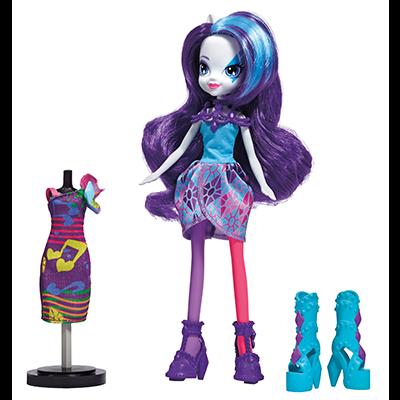 My Little Pony Equestria Girls Rainbow Rocks Rarity-dukke med modetøj