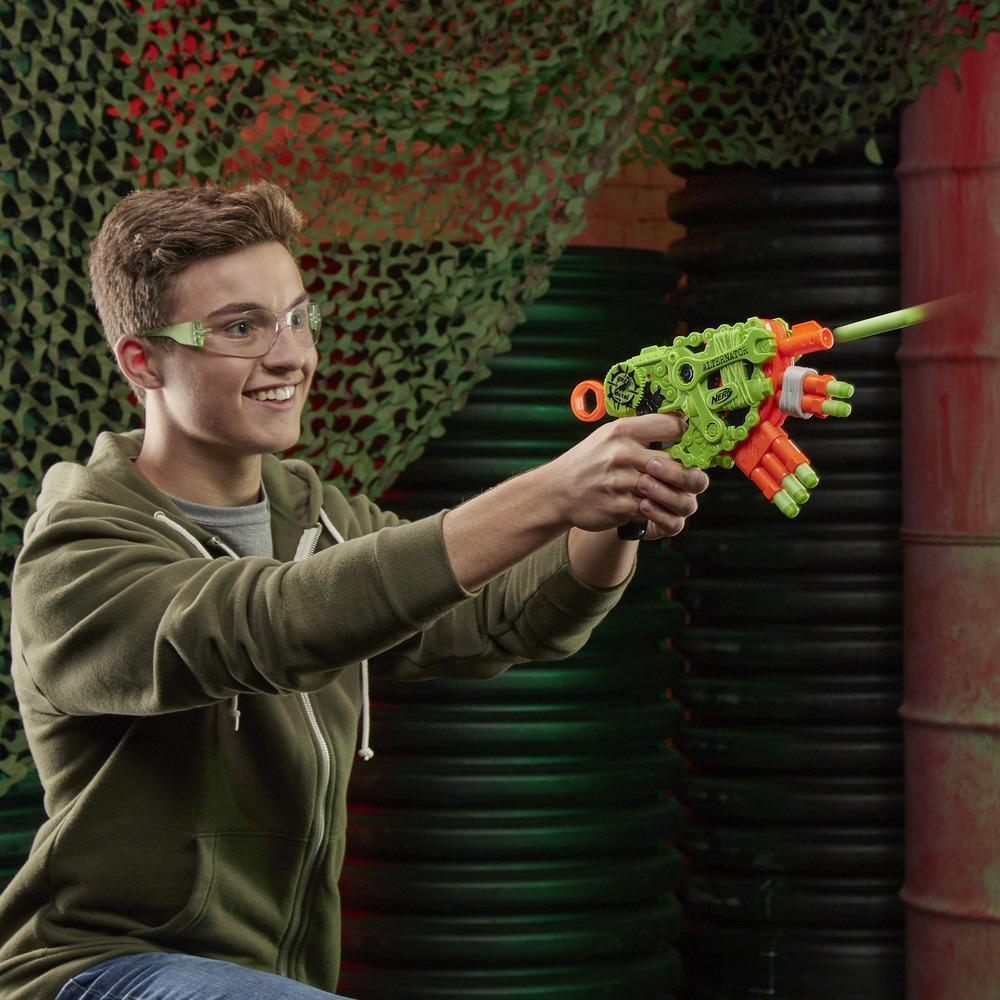 Nerf Zombie Strike Alternator Blaster – enthält 12 Nerf Zombie Strike Elite Darts – für Kinder, Teenager, Erwachsene