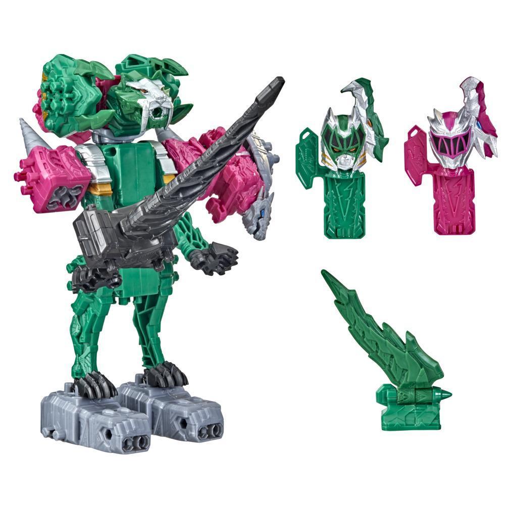 Power Rangers Dino Fury Pinker Ankylo Hammer und Grüner Tiger Claw Zord