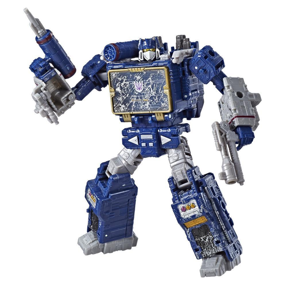 Transformers Toys Generations War for Cybertron Voyager WFC-S25 Soundwave Action Figure - Siege Chapter - Adults and Kids Ages 8 and Up, 7-inch