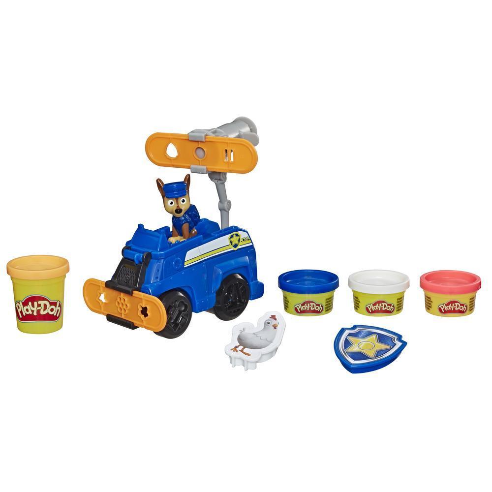 Play-Doh PAW Patrol Polizeihund Chase, Spielzeug Polizeiauto mit Figur