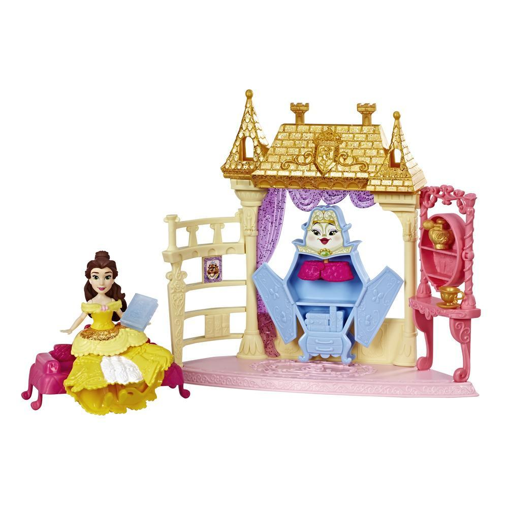 Disney Princess Royal Chambers Playset and Belle Doll, Royal Clips Fashion, One-Clip Skirt