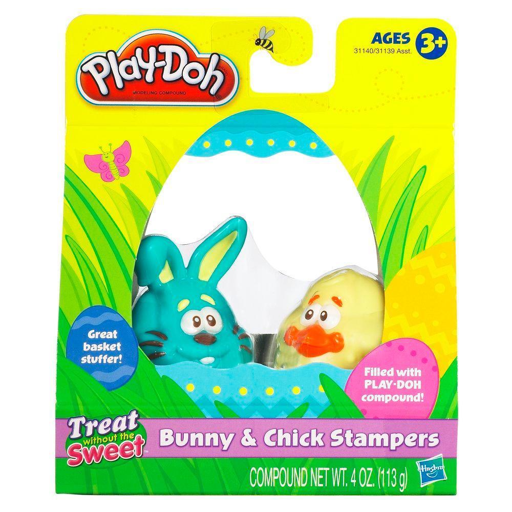 Play-Doh Knetstempel Hase und Küken (blau und gelb)