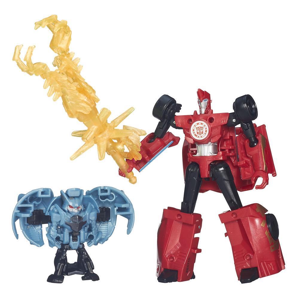 Transformers Robots in Disguise Decepticon Hunter Sideswipe vs Mini-Con Decepticon Anvil Pack