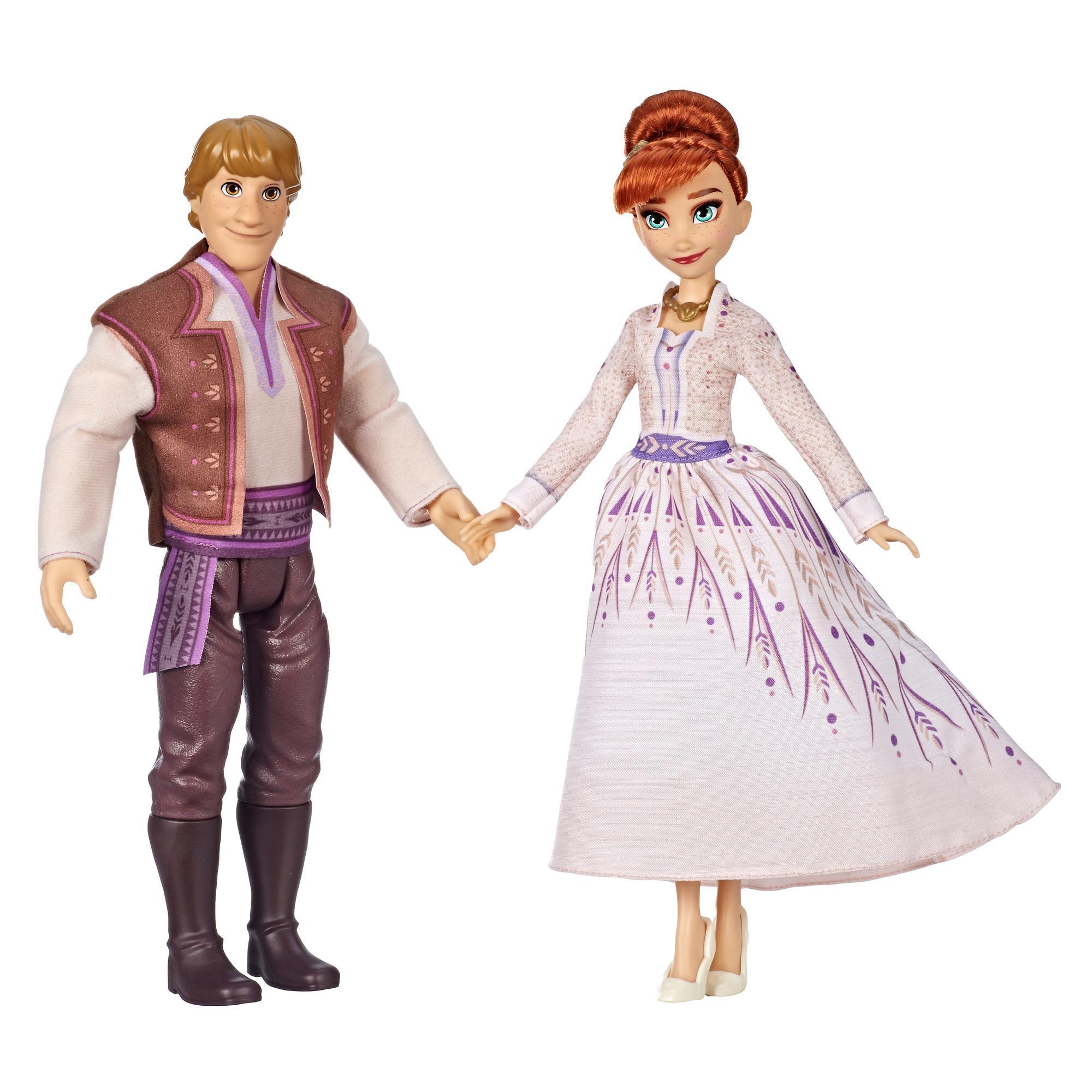Disney Die Eiskönigin Anna und Kristoff Modepuppen 2er-Pack, Outfits aus dem Film Die Eiskönigin 2