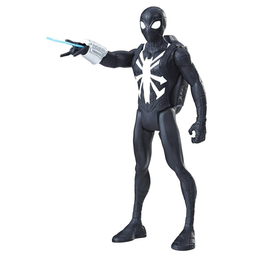 SPD 6IN QUICK SHOT BLACK SUIT SPIDER MAN