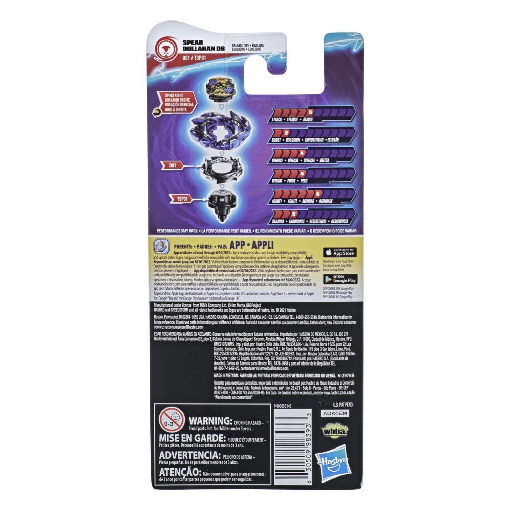 Beyblade Burst Surge Speedstorm Spear Dullahan D6 Kreisel Einzelpack – Battle Kreisel Spielzeug für Kinder