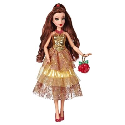 Disney Prinzessin Style Serie - Belle Puppe in modernem Look mit Tasche und Schuhen